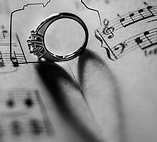 Sheet Music Love by Oil Water Artt