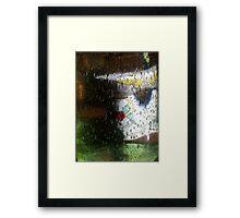 Lady Salt walks in the Rain Framed Print