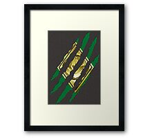 Secret Identity - Green Ranger Framed Print