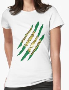 Secret Identity - Green Ranger Womens Fitted T-Shirt
