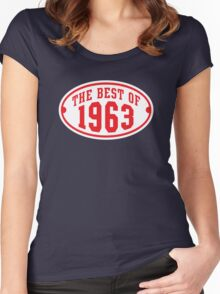 THE BEST OF 1963 2C Birthday Anniversary Red/White Women's Fitted Scoop T-Shirt