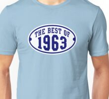 THE BEST OF 1963 2C Birthday Navy/White T-Shirt Unisex T-Shirt