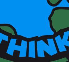 Think Green Earth Sticker