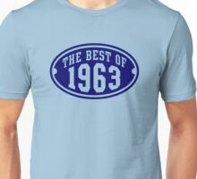 THE BEST OF 1963 Birthday T-Shirt Navy Unisex T-Shirt
