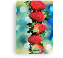 Berry Bokeh Canvas Print