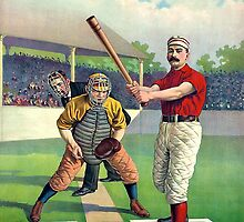 Old Baseball Illustration by Tickleart