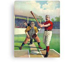 Old Baseball Illustration Canvas Print