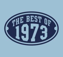 THE BEST OF 1973 Birthday T-Shirt Navy by MILK-Lover