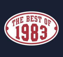 THE BEST OF 1983 2C Birthday T-Shirt Red/White by MILK-Lover