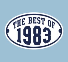 THE BEST OF 1983 2C Birthday T-Shirt Navy/White by MILK-Lover