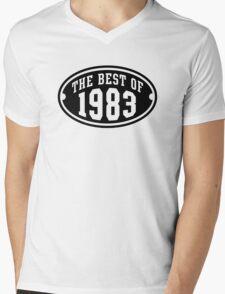 THE BEST OF 1983 Birthday T-Shirt Black Mens V-Neck T-Shirt
