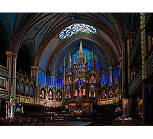 Notre-Dame Basilica of Montreal Photographic Print