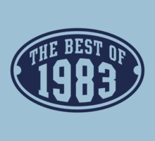 THE BEST OF 1983 Birthday T-Shirt Navy by MILK-Lover