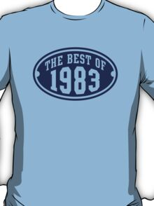 THE BEST OF 1983 Birthday T-Shirt Navy T-Shirt