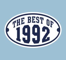 THE BEST OF 1992 2C Birthday T-Shirt Navy/White by MILK-Lover