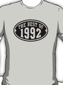 THE BEST OF 1992 Birthday T-Shirt Black T-Shirt