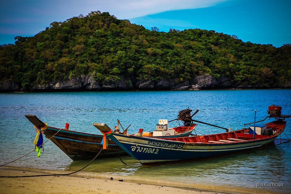 Beach & Boat of Thailand by paxamour