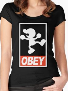 OBEY Mr. Game & Watch Women's Fitted Scoop T-Shirt