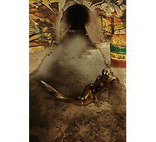 Urban Mermaid - Urban Fantasy Environmental Awareness Photographic Print
