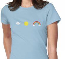 Rain, Sun and Rainbow Womens Fitted T-Shirt