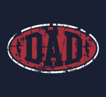 DAD Vintage Design T-Shirt Red/White by MILK-Lover