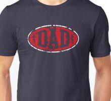 DAD Vintage Design T-Shirt Red/White Unisex T-Shirt