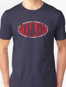 DAD Vintage Design T-Shirt Red/White T-Shirt