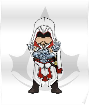 Assassin's Creed Brotherhood: Ezio Chibi by SushiKittehs