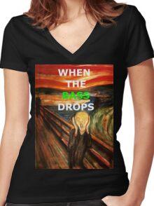 SCREAM Women's Fitted V-Neck T-Shirt