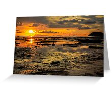 Sunset and the clouds Greeting Card