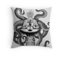 The Radio Host Throw Pillow