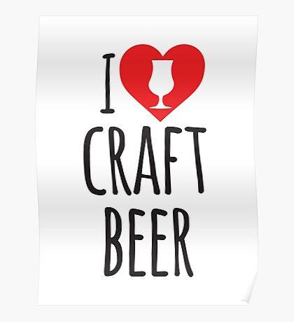 I Heart Craft Beer Poster
