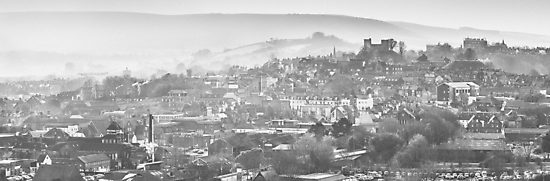 Lewes sussex from Malling Down by Heather Buckley