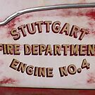 Vintage Fire Truck Door by WildestArt