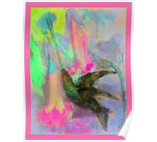 Abstract Hummingbird Poster
