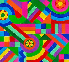 FLOWERS, CIRCLES AND FIGURES by RainbowArt