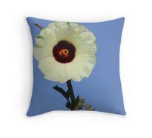 Hemp-leaved Hibiscus Throw Pillow