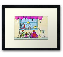 Little People on the Countertop Framed Print