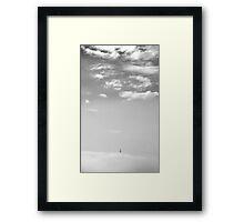 Lisbon - below the clouds Framed Print