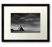 Shiprock, New Mexico Framed Print