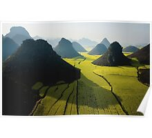 Grasslands With Mountains  Poster