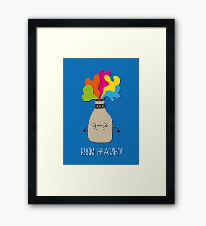 boom headshot Framed Print