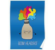 boom headshot Poster