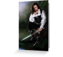 Tuck [thinking about sword] Greeting Card