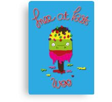 Ice lolly Canvas Print