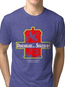 Dinosaurs on a Spaceship Tri-blend T-Shirt