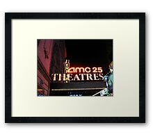 AMC 25 Cinema Theatre (formerly the Empire Theatre), 42nd Street, NYC, NY Framed Print