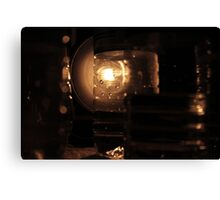 Lighted Water Bottle Canvas Print