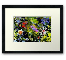 Butterflies and flowers and a little sprinkle Framed Print