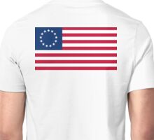 AMERICA, Betsy Ross, flag, Revolution, Stars and Stripes, Star Spangled Banner, America, American, USA, Americana Unisex T-Shirt